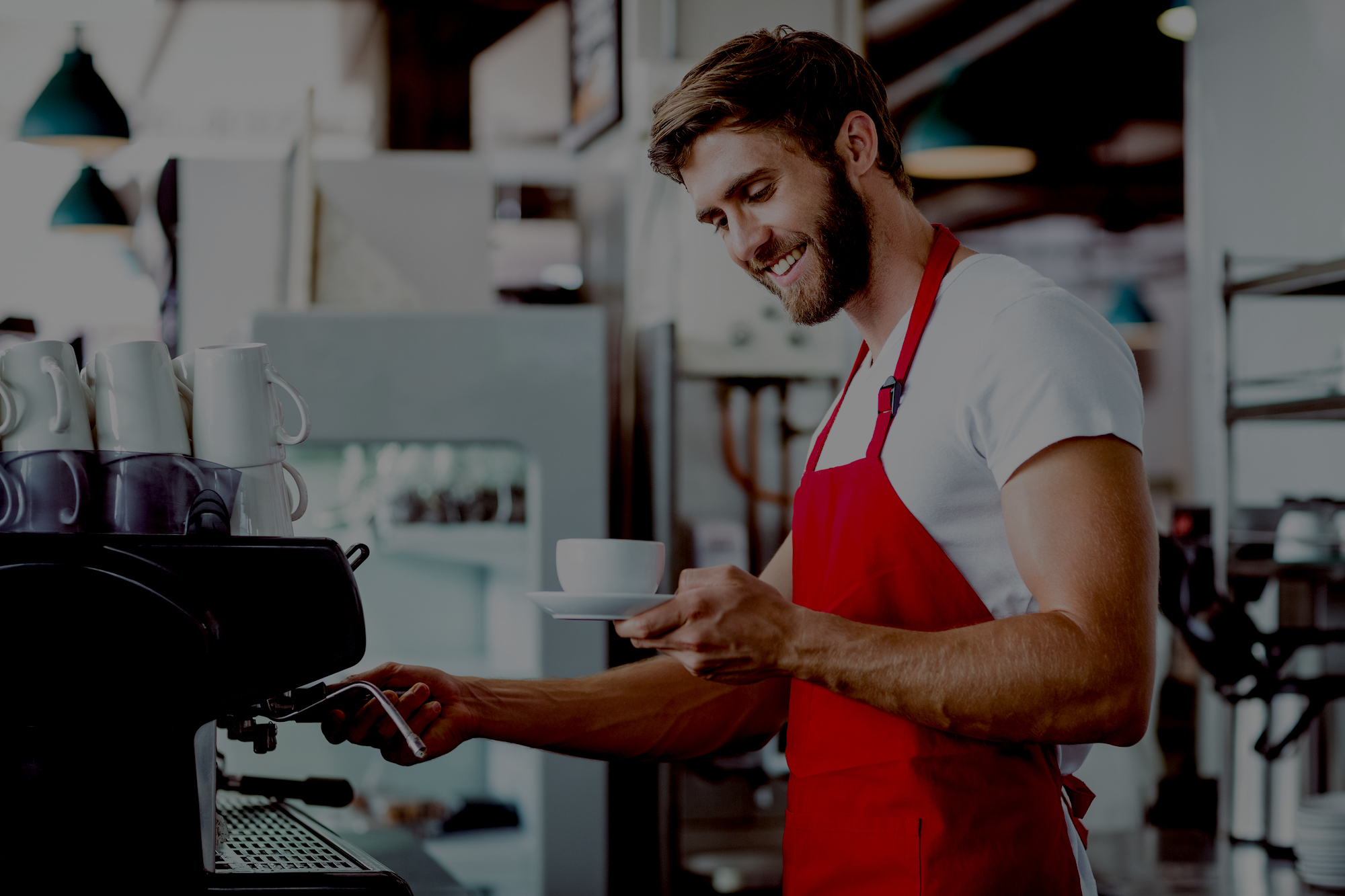 barista making coffee Quick Service POS